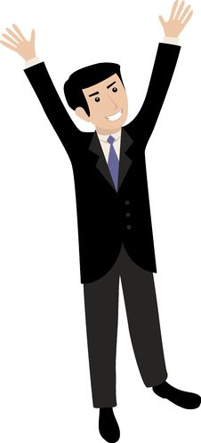 Free Businessman Looking In Sky Royalty Free Stock Photography - 9467467