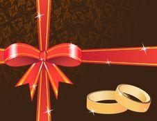 Ribbon And Rings Stock Photos