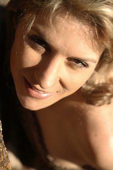 Pretty Blond Brazilian Girl Royalty Free Stock Photos