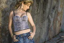 Free Pretty Blond Brazilian Girl Stock Image - 9468091