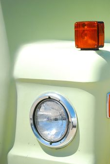 One Headlight Royalty Free Stock Photo