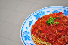 Free Sumptuous Looking Spaghetti Royalty Free Stock Images - 9468609