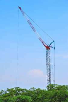Free Towering Construction Crane Royalty Free Stock Images - 9468619