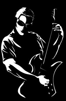 Free Man With A Guitar Royalty Free Stock Photo - 9469305