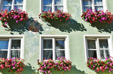 Free Red Pink Flower Hang On The Windows Royalty Free Stock Photo - 94642395