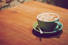 Free Cup Of Coffee On Wooden Table Stock Images - 94642414