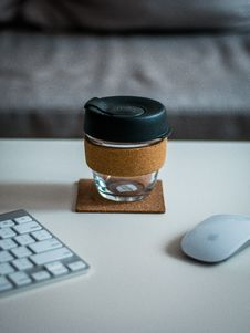 Free Coffee Container Mouse And Keyboard Royalty Free Stock Photos - 94642438