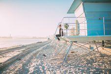 Free Woman On Lifeguard Tower Stock Image - 94642451