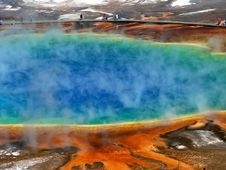 Free Grand Prismatic Spring In Yellowstone Royalty Free Stock Photo - 94642515