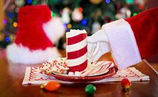 Free Santa Claus Taking Cup Of Hot Chocolate Royalty Free Stock Photos - 94642518