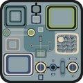 Free Blue Retro Squares Stock Images - 9471234