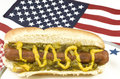 Free Hotdog With American Flag Royalty Free Stock Photography - 9473907