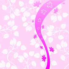 Free Pink Floral Background Royalty Free Stock Photos - 9471988