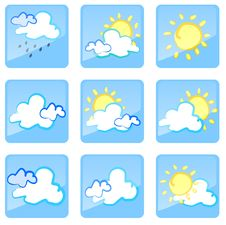 Free WEATHER_icon Royalty Free Stock Images - 9472289