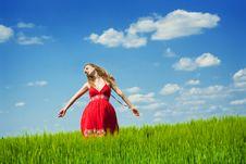 Woman Enjoying Summertime Royalty Free Stock Images