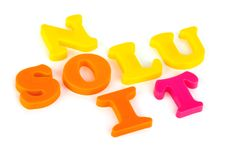 Word Solution Royalty Free Stock Images
