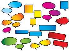 Bright And Colorful Speech Bubbles Stock Images