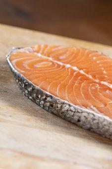 Raw Salmon Stock Photo