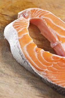 Raw Salmon Royalty Free Stock Photography