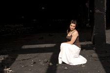Free Young Woman In White Dress Stock Photos - 9473983
