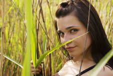 Free Girl Smiling In Grass Stock Photo - 9474120