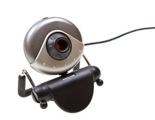 Free Webcam Isolated On White Royalty Free Stock Images - 9474529