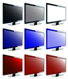 LCD Screen Collection Royalty Free Stock Image