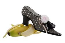 Free Lady Shoe, Slip On Banana Stock Image - 9475701