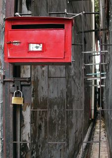 Free Red Mail Box And Lock Stock Photos - 9475743