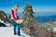 Free Young Girl In The Mountains Stock Image - 9475771