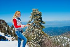 Free Young Girl In The Mountains Stock Photos - 9475773