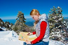 Free Young Girl In The Mountains Stock Image - 9475811