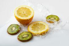 Free Lemon And Kiwi Stock Images - 9475824