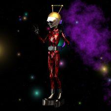 Free Alien Royalty Free Stock Image - 9476056