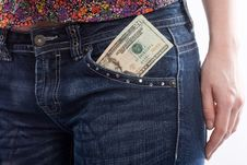 Free Dollars In Pants Royalty Free Stock Images - 9476159