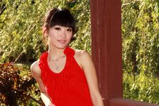 Free Asian Girl Outdoors Stock Image - 9476791