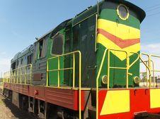Locomotive On Railway Station Stock Image