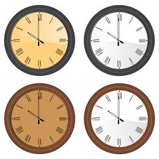 Wall Clock Vector Stock Photos