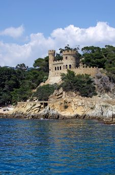 Free Castle View Near Lloret De Mar. Royalty Free Stock Photos - 9477128