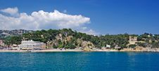 Free Beach Near Lloret De Mar. Royalty Free Stock Images - 9477139