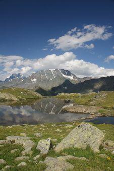 Alpine Lake, Switzerland Royalty Free Stock Image