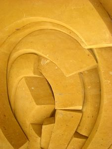 Free Fragment Of An Abstract Sculpture From Sand Stock Images - 9478194