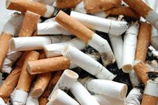Free Ashtray Full Of Cigarette Butts Stock Image - 9478531