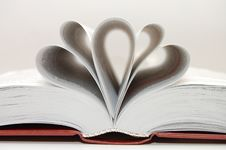Free The Open Book With Shaped Pages Stock Photography - 9478562