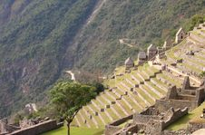 Free Machu Picchu With Terraces And Road Stock Images - 9479464