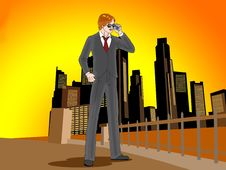 Free Bussiness Man Calling Stock Images - 9479774