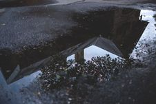 Free Relfection In The Puddle Stock Photography - 94711332