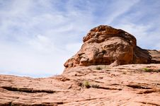 Free Sandstone Formation Against Blue Skies Royalty Free Stock Image - 94712066