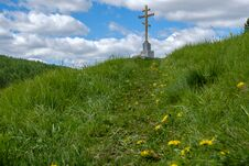 The Cross On The Mountain Stock Photography