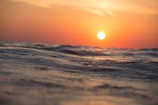 Free Sunset Over Ocean Waves Stock Photo - 94777830